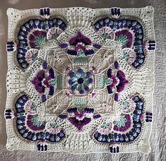 Crochet Patterns Ravelry Ravelry: Karoo Vintage MAL pattern by Jen Tyler Crochet Mandala Pattern, Granny Square Crochet Pattern, Crochet Stitches Patterns, Crochet Squares, Crochet Designs, Stitch Patterns, Knitting Patterns, Crochet Granny, Vintage Crochet Patterns