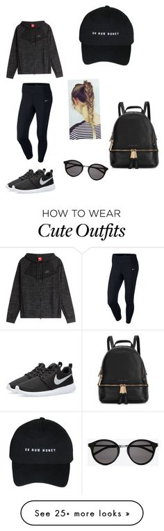 """Sporty outfit"" by miariviere on Polyvore featuring NIKE, Michael Kors and Yves Saint Laurent"