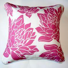 Cushion Waterlily Pink - Katz Designer Textiles