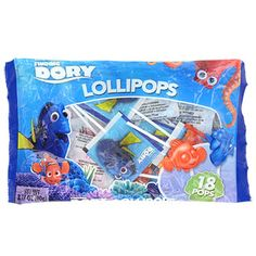 These Disney® themed lollipops are decked out with Finding Dory™ characters and are a must have for birthday parties and Halloween giveaways. Also great for prize boxes, stocking stuffers, p