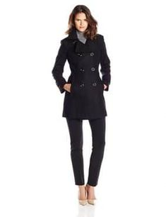 Looking for Anne Klein Women's Classic Double-Breasted Coat ? Check out our picks for the Anne Klein Women's Classic Double-Breasted Coat from the popular stores - all in one. Winter Coats Women, Coats For Women, Jackets For Women, Clothes For Women, Winter Jackets, Anne Klein, Black Wool Coat, Double Breasted Coat, Coat Dress