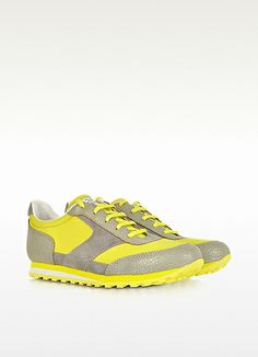 Marc by Marc Jacobs - Cute Kicks Sneaker aus Neopren, Wildleder und Leder in grau