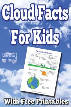 Cloud Facts for Kids - Itsy Bitsy Fun - Cloud Facts for Kids - 1st Grade Science, Kindergarten Science, Middle School Science, Science Classroom, Science Education, Teaching Science, Science For Kids, Earth Science, Physical Science