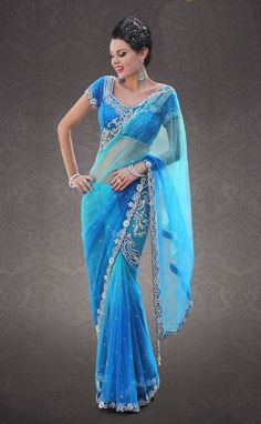 blue and green sari - Google Search