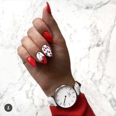 Discover the 10 most popular nail polish colors of all time! - My Nails Blue Nails, Matte Nails, Stiletto Nails, Acrylic Nails, Pink Summer Nails, Nailart Glitter, Cherry Nails, Uñas Fashion, Super Nails
