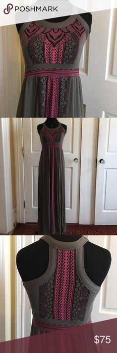 """Athlete SP maxi racer back dress Perfect for warm weather -- built in bra and light material.  About 51"""" from shoulder to hem. Worn about 3 times.  Great condition. Athleta Dresses Maxi"""