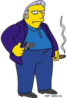 The Simpsons - Fat Tony D'Amico, Springfield's resident mobster Simpsons Tattoo, Simpsons Drawings, Cartoon Drawings, Cartoon Art, The Simpsons, Chief Wiggum, Los Simsons, Krusty The Clown, Rick E