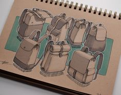 Product Design Illustrations on Behance Industrial Design Sketch, Industrial Design Portfolio, Illustration Sketches, Design Illustrations, Bed Cover Design, Industrial Farmhouse Decor, Drawing Bag, Sketch Inspiration, Cool Sketches