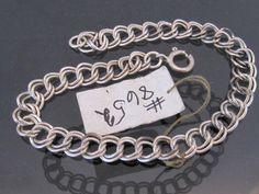 Vintage Sterling Silver Link Chain Bracelet 7 by wandajewelry2013