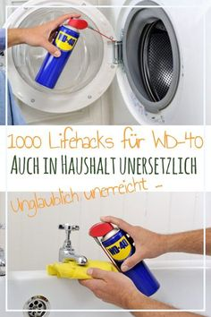 Reinigungstipps With a simple contact spray from a can you can solve almost all household problems . Household Cleaning Tips, Cleaning Hacks, Household Chores, Wd 40 Uses, 1000 Lifehacks, Simple Life Hacks, Diy Hacks, Kitchen Hacks, Diy Crafts To Sell