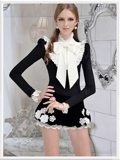 Girly Girl Outfits, Hot Outfits, Classy Outfits, Pretty Outfits, Dress Outfits, Lolita Fashion, Girl Fashion, Fashion Design, Dress Images