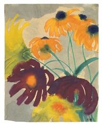Emil Nolde, Gouache, Tarot, German, Greeting Cards, Bouquet, Artists, Watercolor, Fine Art