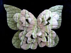 Lot 7 LAYERED CUTTER QUILT 3D LARGE BUTTERFLIES Vtg Primitive Folk Art Ornament | eBay