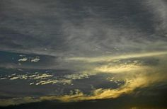 The yellow-clouds like as waves of ocean ! by Pravin Bagga