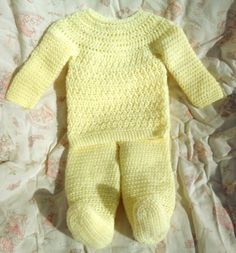 """Crocheted Baby Girl/Boy Top Pant Set Yellow Infant 6 – 12 mo - By """"Magdalene Knits"""" on Etsy Baby Girl Crochet, Newborn Crochet, Handmade Baby, Handmade Clothes, Baby Girl Tops, Toddler Sweater, Thing 1, Baby Sandals, Baby Boy Newborn"""