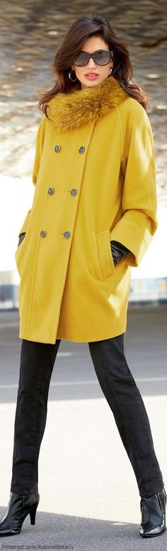 Winter coat in a bright color <3