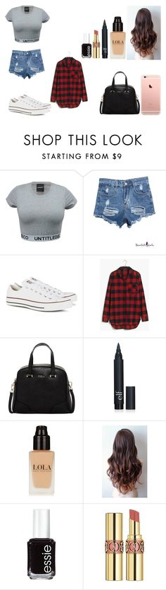 """Untitled #475"" by kalieh092 on Polyvore featuring Converse, Madewell, Furla, Essie, Yves Saint Laurent, women's clothing, women, female, woman and misses"