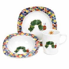 Portmeirion Very Hungry Caterpillar 3 Piece Dinner Set #VeryHungryCaterpillar #PenguinKids