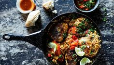 Chicken and chargrilled red pepper paella with fresh lime. Serves preparation cooking time Made with Nando's Medium PERi-PERi sauce. Nando's Recipes, Wine Recipes, Healthy Recipes, Healthy Cooking, Healthy Foods, Chicken Paella, Chicken Steak, Chicken Rice Recipes, Portuguese Recipes