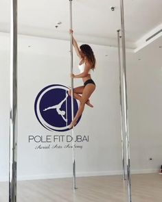 Pole Fitness Moves, Pole Dance Moves, Pole Dancing Fitness, Dance Poses, Zumba Fitness, Fitness Exercises, Pole Classes, Safety Slogans, Pole Tricks