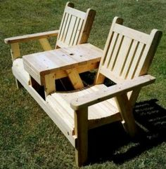 Outdoor Bench With Table Made By 52 Woodworks ProjectsPallet ProjectsWoodworking