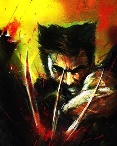 Wolverine Abstract Art