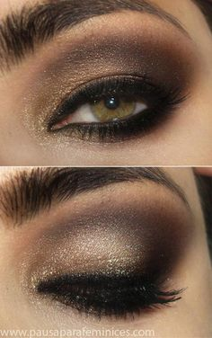 Tutorial - for Mila Kunis' gold and dark brown smokey eye look (not in English)