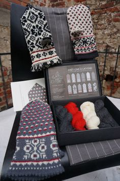 Knit Like a Latvian Knitting Kit - Latvian Grey - Knitting Kits - Create & Make - Accessories #amidsummersknitsdream, #loveknittingcom