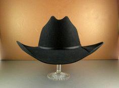 5efe5eafa88 Resistol Black Felt Western Cowboy Hat    Mens Size 7 r