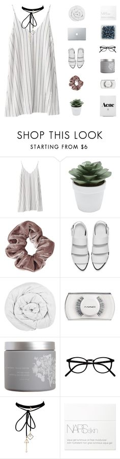 """""""is it chill that you're in my head?"""" by s-erene ❤ liked on Polyvore featuring M&Co, Topshop, Alexander Wang, The Fine Bedding Company, MAC Cosmetics, red flower, WithChic and NARS Cosmetics"""