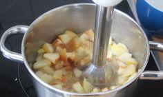 Apfelmus für Babys kann man schnell und einfach selber machen. Statt Äpfel kann man Obstmus für Babys auch mit Birnen, Pflaumen, Aprikosen, etc. zubereiten.