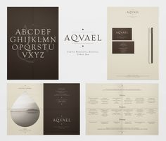 Logo, typography, corporate id and brochure for Aqvael Urban spa. Typography Design, Logo Design, Graphic Design, Spa Branding, Corporate Id, Brochure Design, Identity, Cards Against Humanity, Graphics