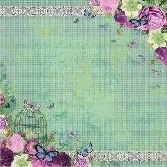 Victorian Garden - Papier 04 » Papiery do scrapbookingu » LEMONADE Scrapbooking, cardmaking, papercrafts