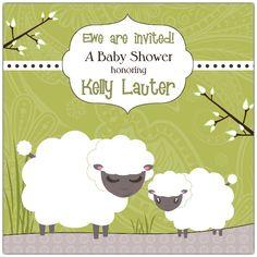 Baa Sheep Neutral Baby Shower Invitations