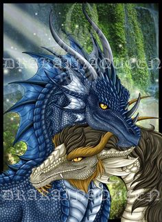 Valentines day-Dragon Couple - FS -by DrakainaQueen