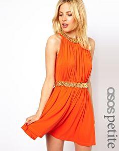 #Kleid#gold#Pailletten#orange#dress