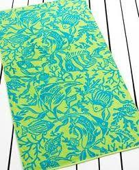 "Plush Extra Large Beach Towel Ralph Lauren 35"" X 66"" Coral Reef Blue Green Sea Creatures http://www.amazon.com/gp/product/B00A01BHOW?ie=UTF8=A2R9LWAIYHD3DE=Distinct%20Treasures"