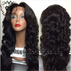Human Hair Wig 100 Remy Brazilian Human Hair Wig Loose Wave Glueless... ($172) ❤ liked on Polyvore featuring beauty products, haircare, hair styling tools, bath & beauty, dark olive, hair care and bleached hair care
