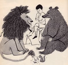 The Happy Lion and the Bear - written by Louise Fatio, illustrated by Roger Duvoisin (1964).