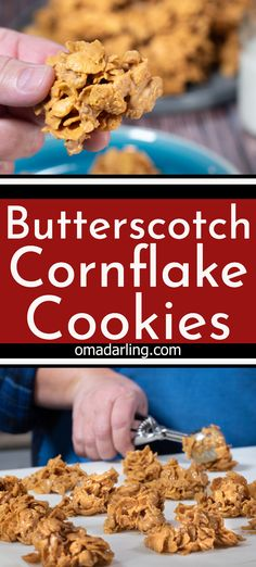 Butterscotch Cornflake Cookies are an easy no bake cookie, crunchy from cornflakes, coated in sweet butterscotch, peanut butter and and nuts. Cornflake Candy, Cornflake Cookies Recipe, Cornflake Recipes, Cereal Recipes, Cookie Recipes, Snack Recipes, Snacks, Homemade Jelly, Homemade Cookies