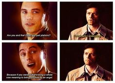 Jack Harkness & Castiel. PINNING THIS BECAUSE OF A PIN I SAW A MINUTE AGO