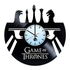 Game Of Thrones Handmade Vinyl Record Wall Clock !!! DISCOUNT FOR THIS PRODUCT is 5$ !!!