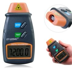 DT2234C+ Digital Laser RPM Tachometer Non-Contact Measurement Tool with 1 x 9V Battery