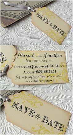 """""""Eat, Drink, Get Married"""" Save the Date 