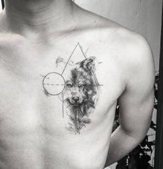 61 Best Stylish, Beautiful and Unique Tattoos for Men unique tattoos for men; unique tattoos for couples; unique tattoos for my son; unique tattoos for lost loved ones; unique tattoos for parents; unique tattoos for best friends Tattoo L, Wolf Tattoo Sleeve, Est Tattoos, Back Tattoo, Body Art Tattoos, Hand Tattoos, Sleeve Tattoos, Pretty Skull Tattoos, Lace Skull Tattoo