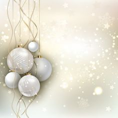 Fond de Noël avec des boules d'or Vecteur gratuit