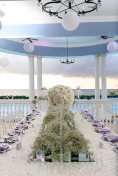 Baby's Breath inspired destination wedding at Grand Palladium Jamaica. Planned and designed by Fusion Events. http://www.fusion-events.ca. Photo by Jamieson Dean.