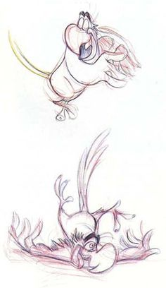 Aladdin (1992) - Character Design: Iago