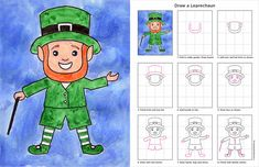 How to Draw a Leprechaun - ART PROJECTS FOR KIDS. Aww, my kids would love this!