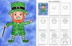 Bri-coco de Lolo: Comment dessiner un lutin de la St-Patrick